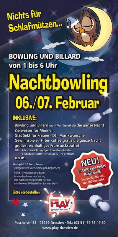 Nachtbowling 6./7. Februar 2015