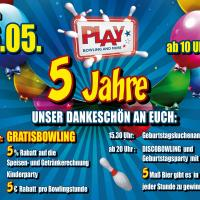 5 Jahre PLAY Bowling